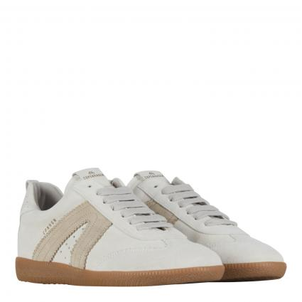 Sneaker 'Crosta' aus Leder beige (WHITE/NATURE)   38