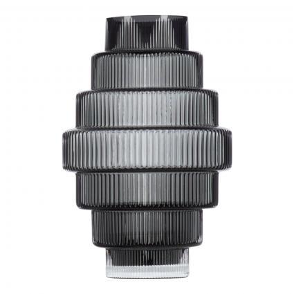 Vase 'Steps small' grau (GREY) | 0
