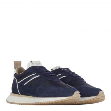 Sneaker mit Materialmix marine (navy) | 41