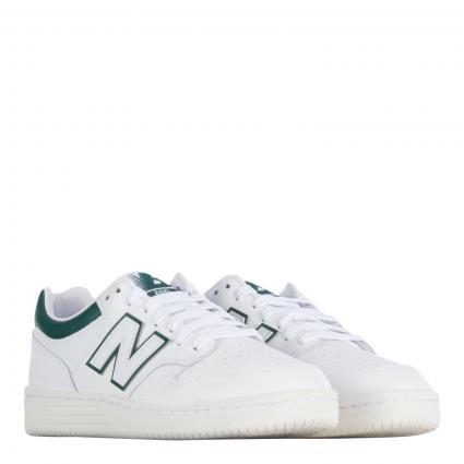 Sneaker aus Leder weiss (100 white )   10