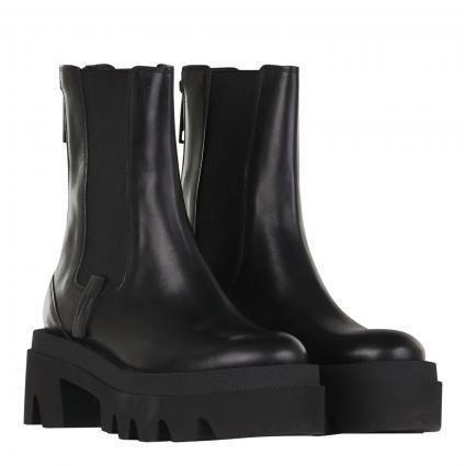 Stiefelette aus Leder schwarz (520 SCHWARZ) | 7,5