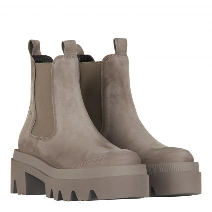 Chelsea-Boots aus Leder mit markanter Sohle braun (662 SOFT NUBUK KALI)   6
