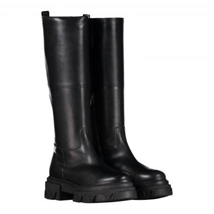 Stiefel aus Leder schwarz (1 PISA BLACK) | 38