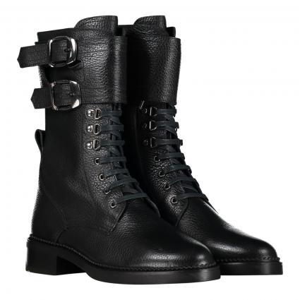 Stiefelette aus Leder schwarz (1 LIMA BLACK) | 39,5