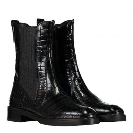 Stiefelette aus Leder schwarz (1 GATOR BLACK)   42