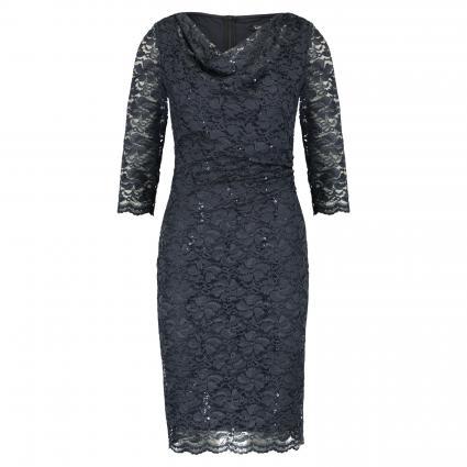 Figurbetontes Kleid aus Spitze blau (9132 Blue Graphite) | 38