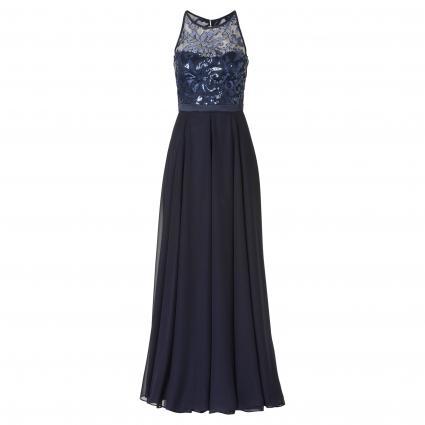 heiß-verkauf echt billiger günstigster Preis Ärmelloses Kleid mit Paillettenbesatz