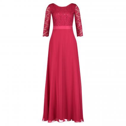 Abendkleid mit Spitzendetail und Paillettenbesatz  pink (4286 Persian Pink) | 46