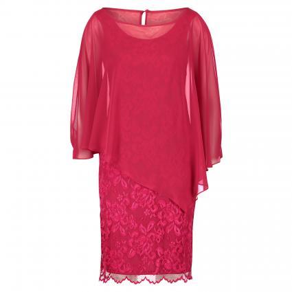 Spitzenkleid mit fließendem Überwurf pink (4286 Persian Pink) | 38