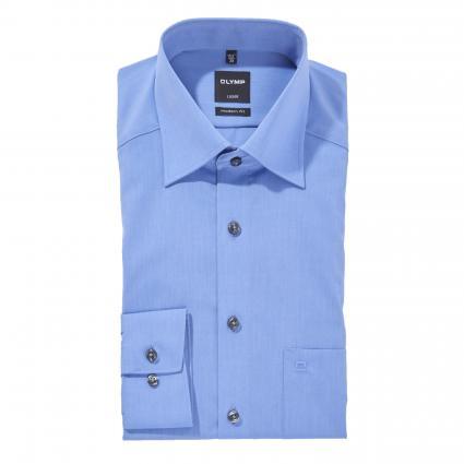 Slim-Fit Hemd 'Luxor' mit Brusttasche blau (15 blau) | 43