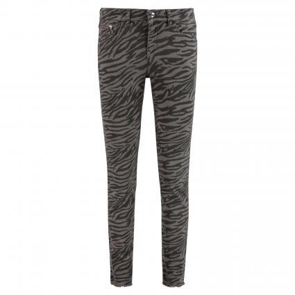 Slim-Fit Jeans grün (363B dark green prin) | 42 | 29