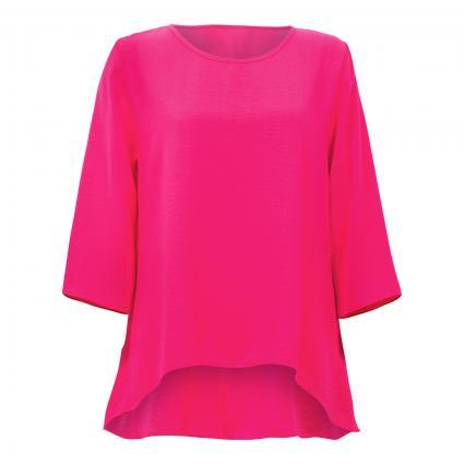 Blusenshirt im Vokuhila-Stil pink (3768 AZALEE) | 36