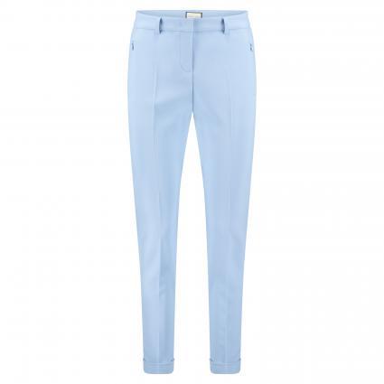 Hose 'Leni' mit Beinumschlag blau (821 hellblau) | 42
