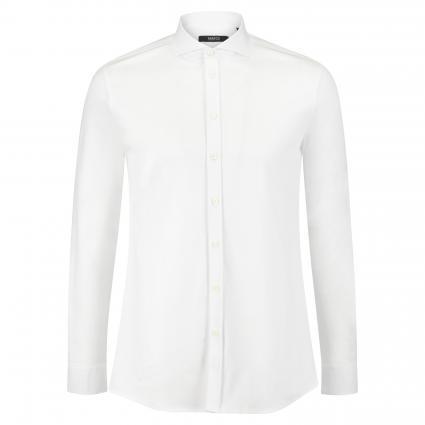 Slim-Fit Hemd mit Haifischkragen weiss (01 weiß) | 41