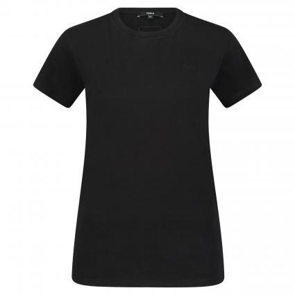 T-Shirt 'Jule' mit Rundhalsausschnitt weiss (900 BLACK) | S