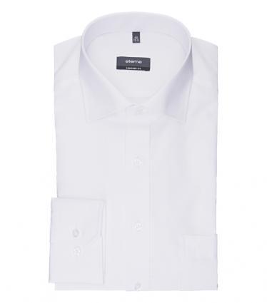 Comfort-Fit Hemd mit Kentkragen und Brusttasche weiss (00 weiss) | 42