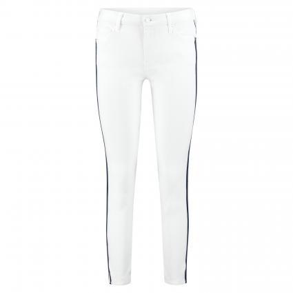 Slim-Fit Jeans mit Galonstreifen weiss (GSL) | 26