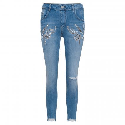 Slim-Fit Jeans 'Bradfort' mit Schmucksteinbesatz  blau (405 light blue denim) | 30
