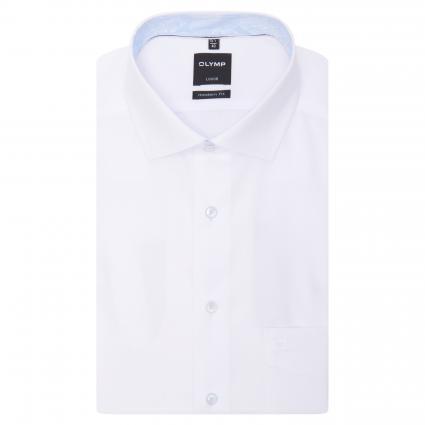 Regular-Fit Hemd mit Brusttasche weiss (00 weiss)   40