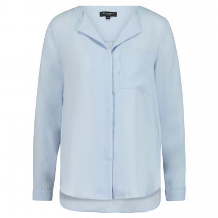 Casualbluse 'Nella' mit modischem Kragen blau (XENON BLUE)   40