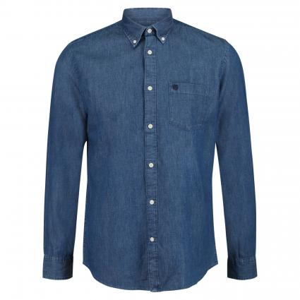 Regular-Fit Hemd 'Collect'  marine (Medium Blue Denim) | XXL