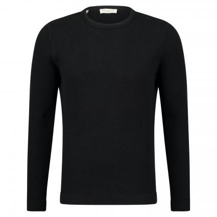 Strickpullover 'Victor' mit Strukturmuster schwarz (Black) | L