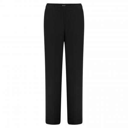Weite Hose 'Tulla' mit elastischem Bund  schwarz (BLACK) | 40