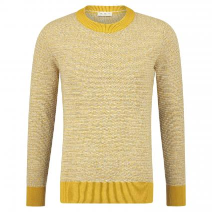 Melierter Strickpullover 'Martin' gelb (Honey Twisted) | L