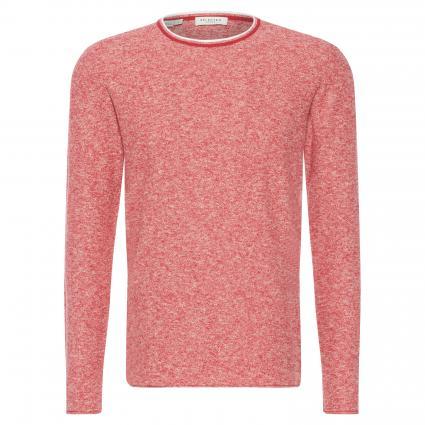 Pullover 'Clash' aus Leinen-Mischung rot (Scarlet Sage)   XL