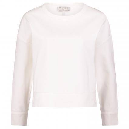 Oversize-Sweatshirt 'Alli' mit Zierknöpfen weiss (SNOW WHITE) | L