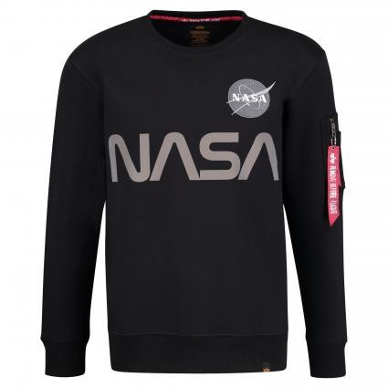 Sweatshirt 'Nasa Reflectiv' schwarz (03 black) | XXL