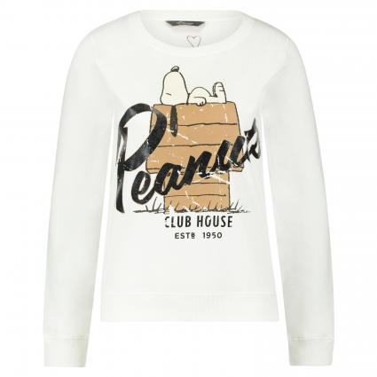 Sweat-shirt avec impression arachides blanc (1002 weiß) | M