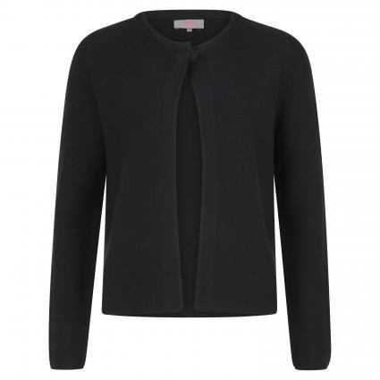Strickjacke 'Tessa L' aus reiner Baumwolle schwarz (999 black) | 42