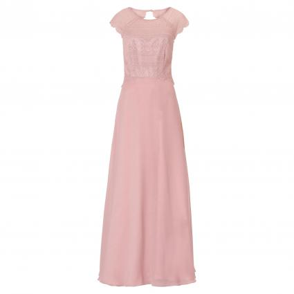Abendkleid mit Spitzenoberteil rose (4463 Clanic Rose) | 42