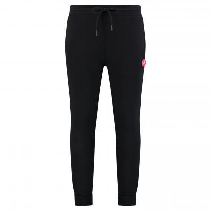 Sweatpants mit Label-Patch schwarz (black red) | XXL