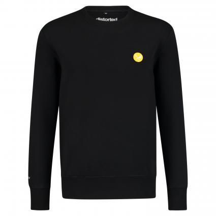 Sweatshirt mit Label-Patch schwarz (black yellow) | S