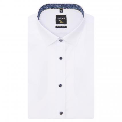 Chemise cintrée avec boutons décoratifs blanc (00 weiss)   42