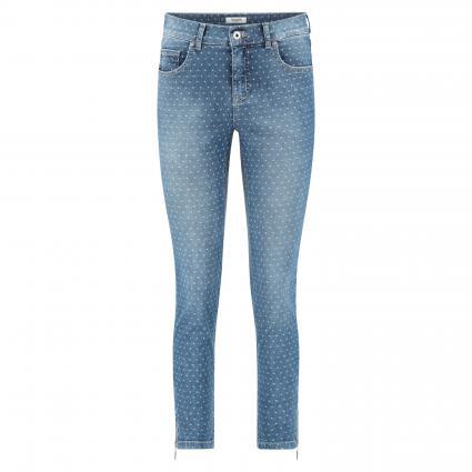 Skinny-Fit Jeans mit Webmusterung blau (329 superstone) | 46