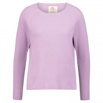 Pullover mit verlängerter Rückenpartie flieder (flieder+fire) | L