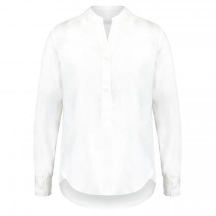 Hemdbluse mit Stehkragen weiss (0 weiß)   44