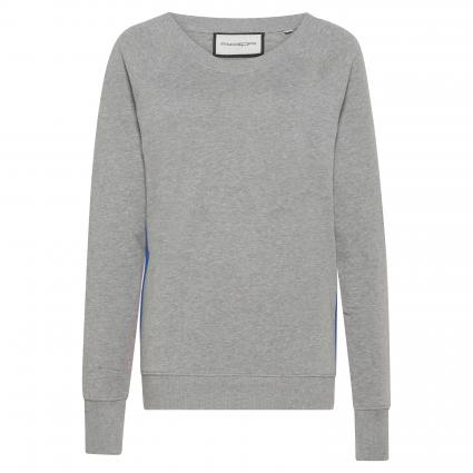 Sweat-shirt à rayures contrastées gris (orig) | L