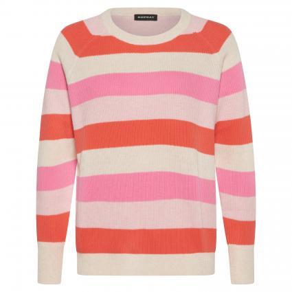 Pullover mit Streifenmuster beige (9845 beige/pink/oran) | 44