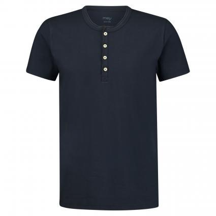 T-Shirt mit Knopfleiste blau (668 yacht blue) | S