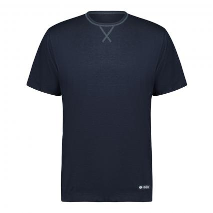 Pyjama-Shirt aus Jersey blau (668 yacht blue) | XL