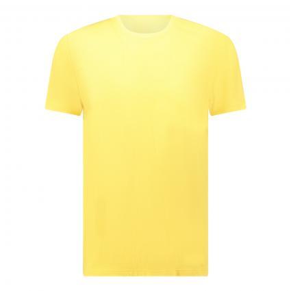 Basic Shirt mit Rundhalsausschnitt gelb (142 sunlight) | L