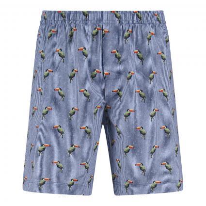 Short Pants mit All-Over Print türkis (672 tropical blue) | M