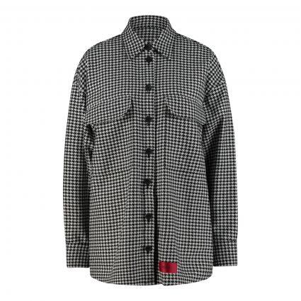 Blazer 'Aviely' im Overshirt-Stil mit Pepita-Muster schwarz (001 Black) | 34