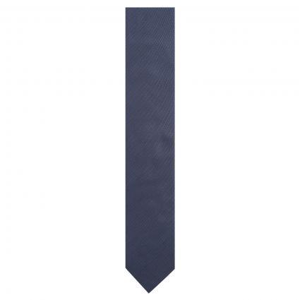 Krawatte aus Seide mit feiner Musterung marine (402 Dark Blue) | 0