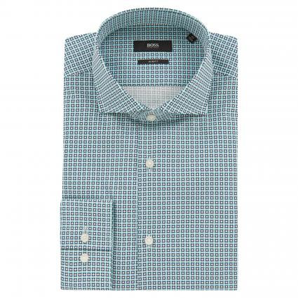 Slim-Fit Hemd 'Jason' mit All-Over Muster blau (459 Light/Pastel Blu)   44