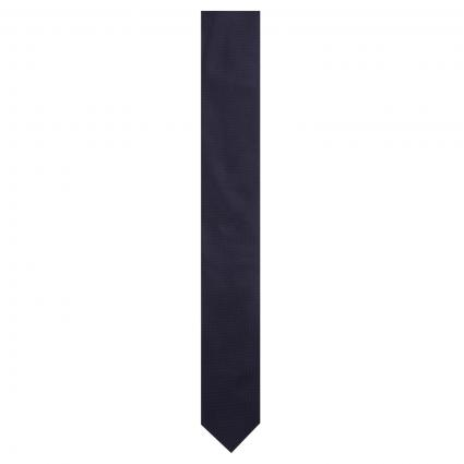 Krawatte aus reiner Seide marine (405 Dark Blue) | 0